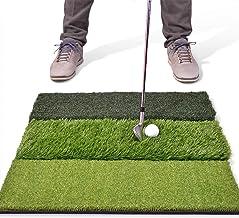 "GoSports Tri-Turf XL Golf Practice Hitting Mat | Huge 24"" x 24"" Turf Mat for Indoor Outdoor Training"