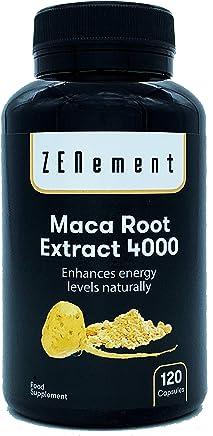 Maca Andina, altamente concentrada 4000mg, 120 cápsulas, mejora los niveles de energía de