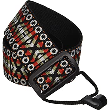 Performance Plus Classical Guitar/Ukulele Strap, Woven Tapestry/Hootenanny Patterns, GS5-RT - Burgundy Sand