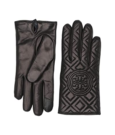 Tory Burch Fleming Gloves (Black) Over-Mits Gloves