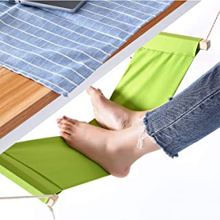 Mini Office Foot Rest Stand Foot Hammock Desk, Adjustable Desk Feet Hammock Replace Footstools for Home, Office Study and Relaxing, 1pc/Box (Green)
