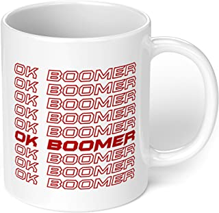"1 Mug -""Ok Boomer"" Funny Quote Meme Mug - Perfect for your cuppa Coffee, Tea, Karak, Milk, Cocoa or whatever Hot or Cold B..."