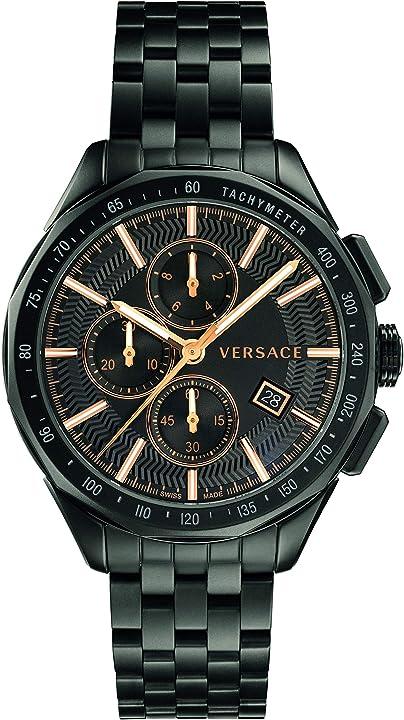 Orologio versace vebj00618 glaze chronograaf heren horloge 44 mm