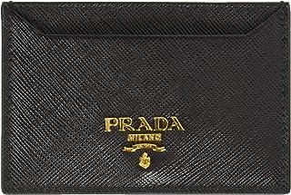 901da4ec8982c0 Prada Women's Saffiano Card Holder 1mc208qwaf0002, Black, One Size