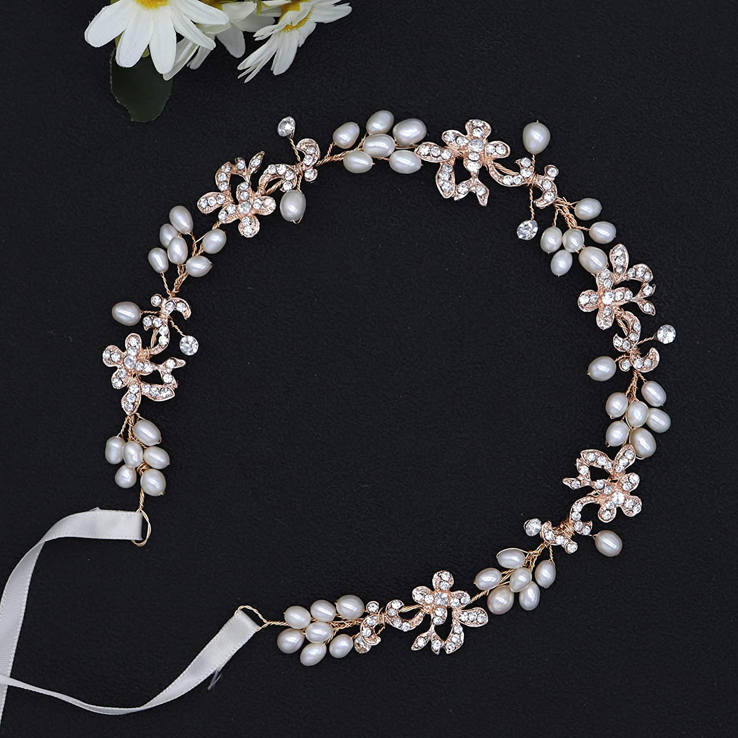 Ammei Rose Gold Luxury Bridal Freshwater Headbands With Genuine New 100% quality warranty! product type