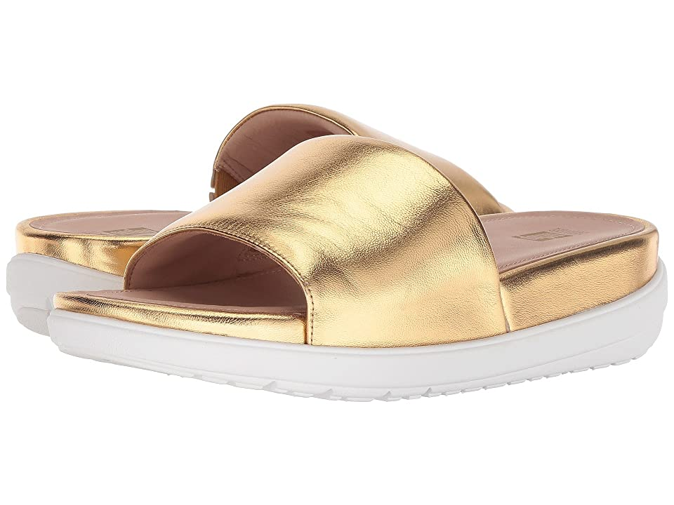 FitFlop Loosh Luxetm Leather Slide Sandals (Gold Metallic Leather) Women