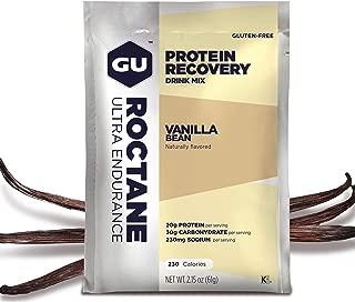 Gu Energy Roctane Ultra Endurance Protein Recovery Drink Mix, 10 Single-Serving Packets, Vanilla Bean