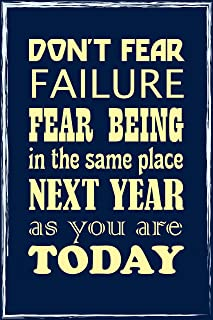 Motivational Inspirational Posters for School Classroom Kidsroom - Motivational Quotes Poster Printing - Wall Art Print for Home School Classroom Office - Fear - 12X18 inches