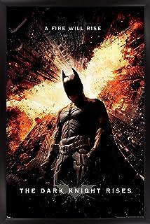 "Trends International DC Comics Movie - The Dark Knight Rises - One Sheet Wall Poster, 22.375"" x 34"", Black Framed Version"