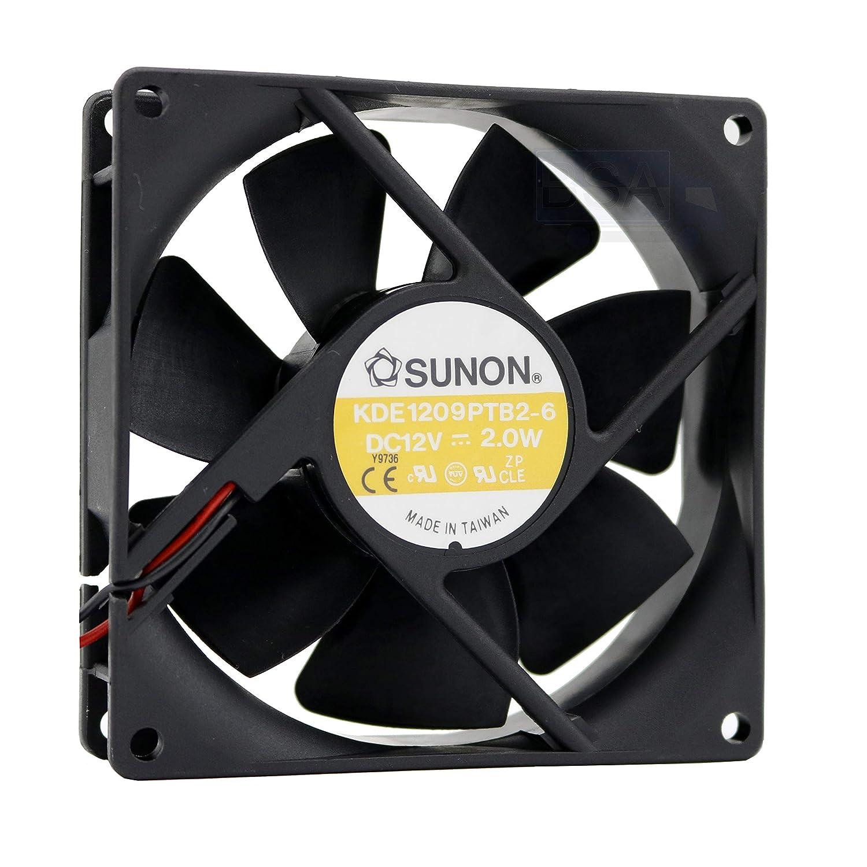 SUNON Ventilador 92 mm 92 x 92 x 25 KDE1209PTB2-6 Enfriamiento 12 V 9.2 cm 2 hilos (+/-) sin conector