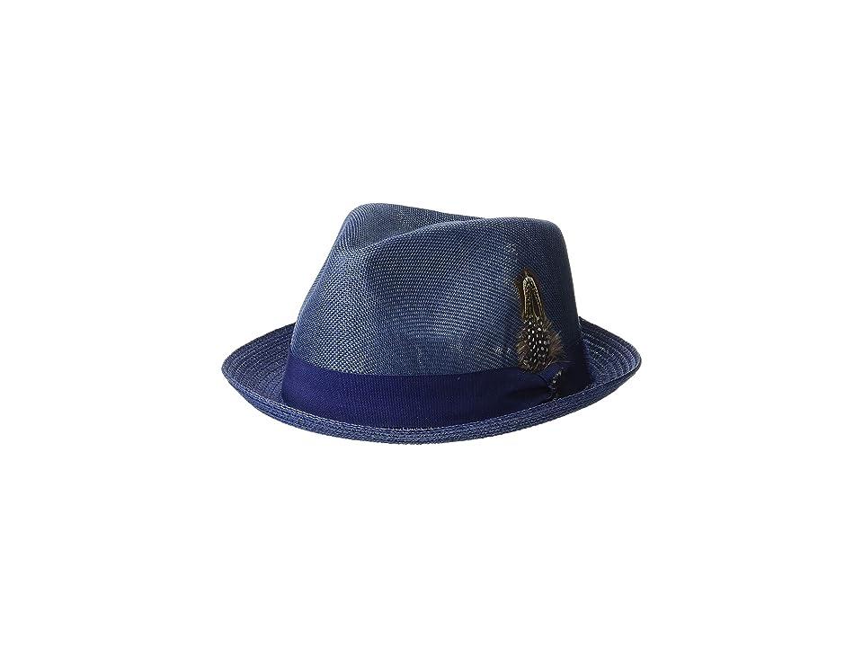 Stacy Adams Polyester Fedora (Navy) Fedora Hats