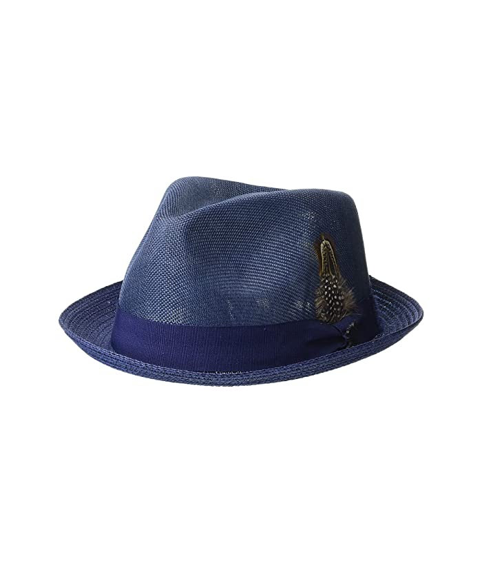 Stacy Adams Polyester Fedora (Navy) Fedora Hats