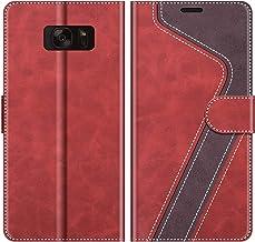 MOBESV Funda para Samsung Galaxy S7, Funda Libro Samsung S7, Funda Móvil Samsung Galaxy S7 Magnético Carcasa para Samsung Galaxy S7 Funda con Tapa, Elegante Rojo