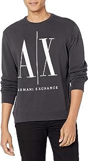 Armani Exchange Men's A x Large Logo Pullover Sweatshirt