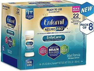 Enfamil Neuropro Enfacare Ready to Feed Premature Newborn Baby Formula Milk Nursette, 2 Fl. Oz. (48Count) - Mfgm, Omega 3 Dha, Probiotics, Iron, Immune Support