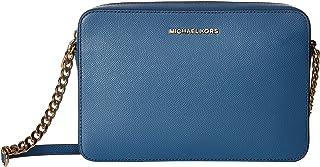 مايكل كورس حقيبة طويلة تمر بالجسم للنساء، ازرق