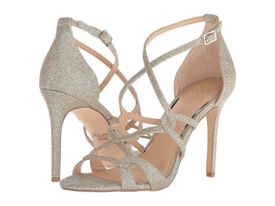 Jewel Badgley Mischka Gweny II (Gold Glitter) High Heels