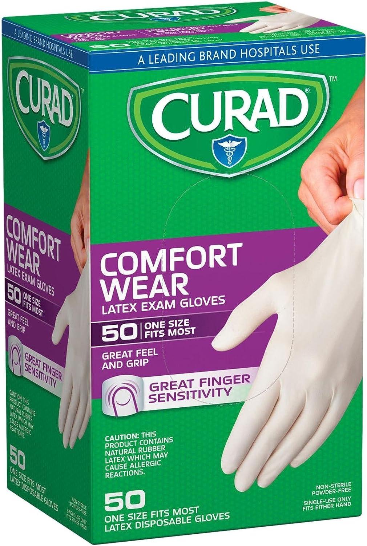 Curad Powder-Free Latex Exam Max 64% OFF ct supreme Gloves-50