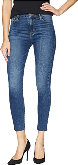 Social High Rise Ankle Skinny Jeans in Arena Blue