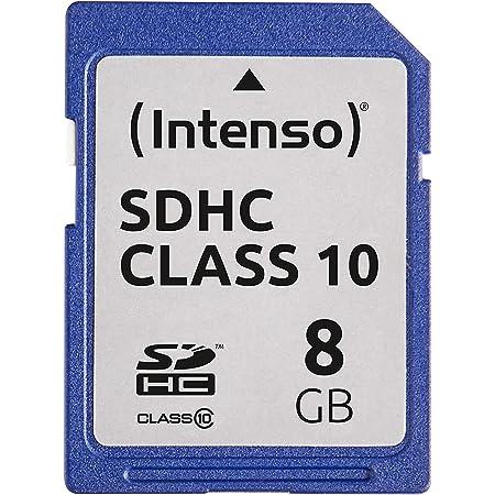 Intenso Sdhc 8gb Class 10 Speicherkarte Blau Computer Zubehör