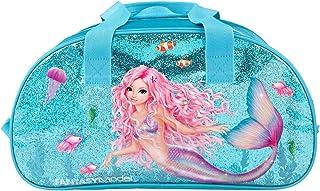 Depesche 11048 TOPModel Fantasy - Sporttasche im Mermaid Design, Reisetasche mit verstellbarem Gurt, Reißverschluss und 2 ...