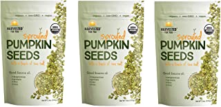 Sponsored Ad - Harvest For You Sprouted Pumpkin Seeds with Sea Salt 9oz Bag, 3 Pack, Non GMO, Keto Snacks, Paleo, Gluten F...
