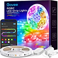 LED Strip Lights RGBIC, Govee 16.4FT Bluetooth Color Changing Rainbow LED Lights, APP Control with Segmented Control...
