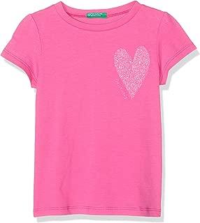 United Colors of Benetton Simli Kalpli Benetton Yazı Tshirt Kız çocuk T-Shirt