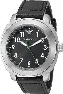 Emporio Armani Men's AR6057 Sport Black Leather Watch
