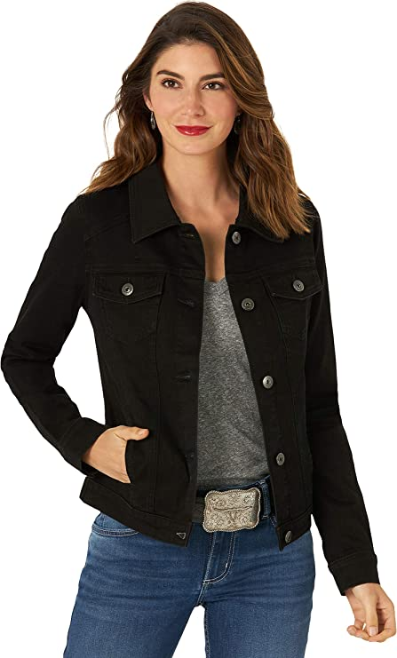 Wrangler Black Jean Jacket for women | Casual and classic denim jacket that goes very well with any casual outfit idea