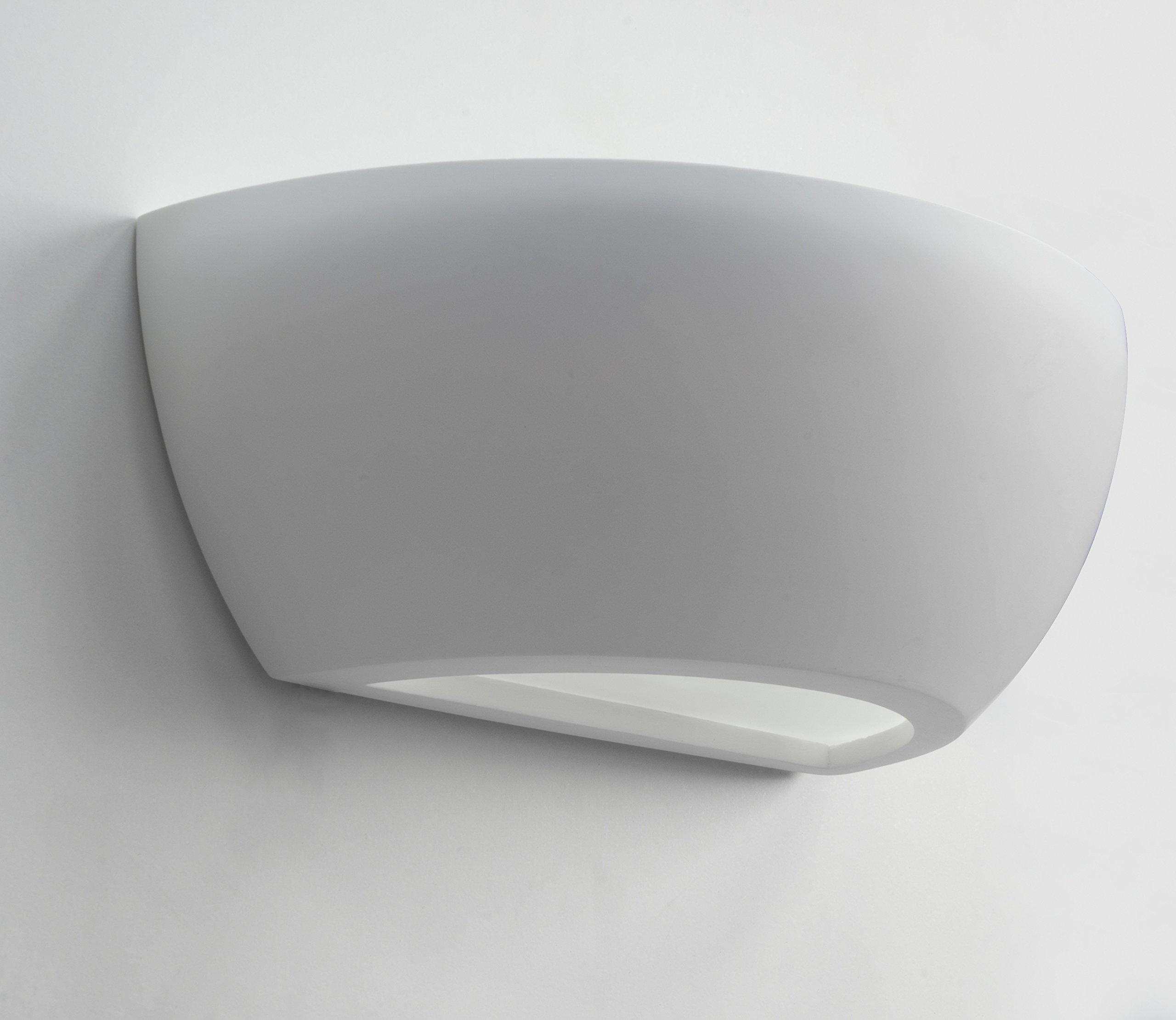 Modern Semi Circular Indoor White Ceramic Wall Light Fixture M25