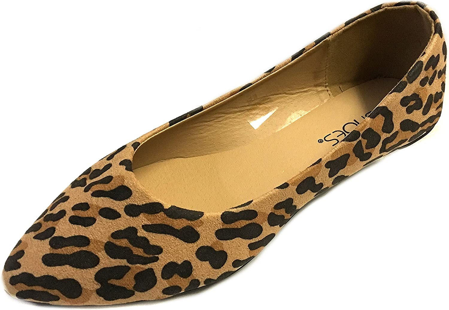 shoes 18 Womens Pointy Toe Ballet Flats 8800 Leopard Micro 9 10