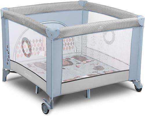 Lionelo Sofie lit bebe parc bebe jusqu'à 15 kg entrée latérale dispositif de protection contre le pliage accidentel L...
