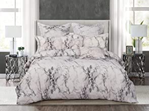 White Marble Doube/Queen/King/Super King Size Bed Doona/Duvet/Quilt Cover Set New (King)