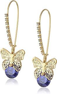 CZ Butterfly Dangle Earrings
