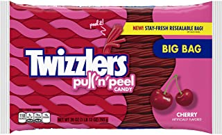 TWIZZLERS PULL 'N' PEEL Cherry Candy, 28 Ounce