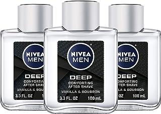 NIVEA Men DEEP Comfort Post Shave Lotion - Soothe Shave irritation - 3.3 fl. oz. Bottle (Pack of 3)