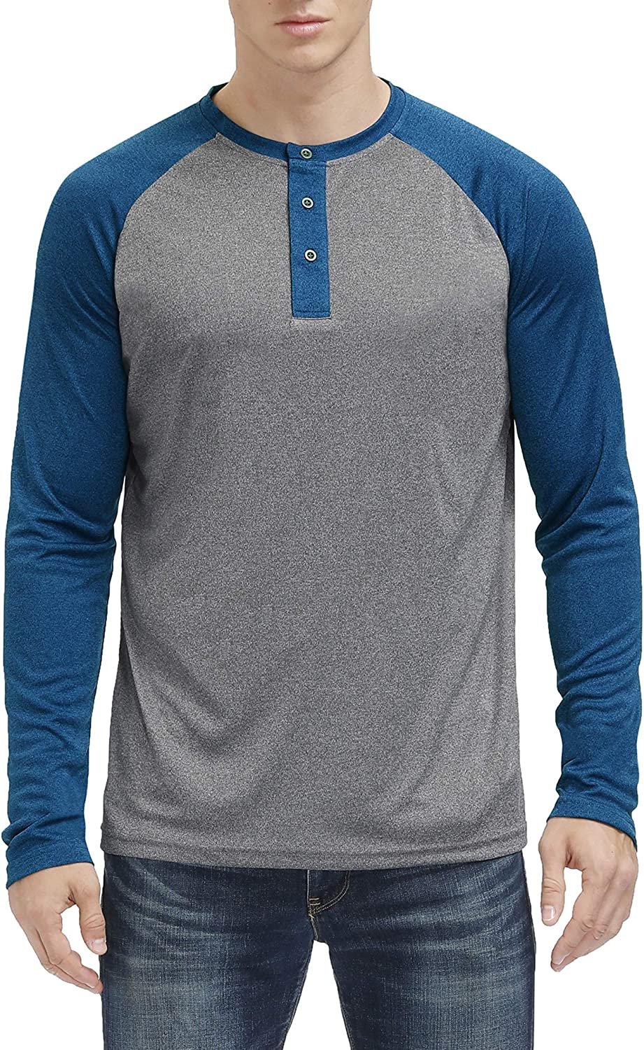 MOHEEN All items free shipping Men's Big New sales Tall Athletic Sleeve Long Lightweight Shirts