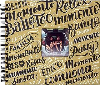 Recuerding Album photo original, 50 pages (27 x 24 cm) Personnalisable avec feuilles de papier noir à remplir avec des sou...