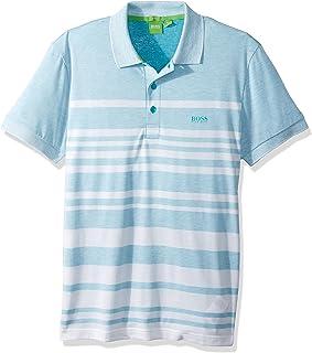 629a11bc BOSS Green Men's Paule 8 Striped Short Sleeve Polo Shirt