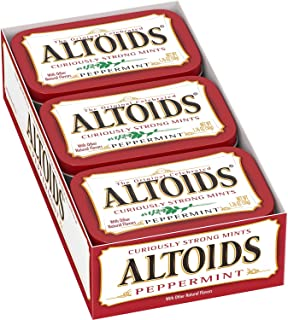 Altoids Curiously Strong Mints 100% Natural Peppermint Net Wt 1.76 Oz Each X 24 (Pack of 24)