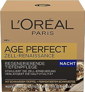 L'Oréal Paris Nattvård, ålder perfekt cell renässans, anti-aging djupvård, kraft och vitalitet, för mogen hud, med svart t...