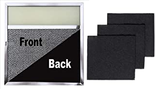 Range Filter with Lens Light + Replacement Charcoal Filters (3-Pack) - 11.5 x 11.75 x .375 with Light Lens