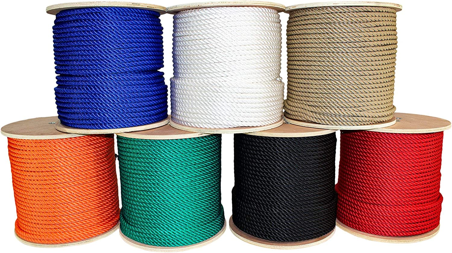 SGT KNOTS Twisted MFP Rope 1//4 in x 250 ft Blue