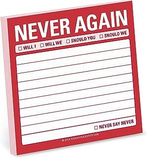 8er-Pack selbsthaftende Notizzettel 1 Stück Never Again B00LQAYIJW  Online-Exportgeschäft
