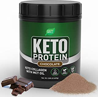 Keto Collagen Protein Powder with MCT Oil - Chocolate Flavor Keto Powder Protein Shake - Lactose Free, Gluten Free, Soy Fr...