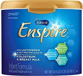 Enfamil Enspire Baby Formula with Lactoferrin (found in Colostrum & Breast Milk) Milk Based Powder, 20.5 Ounce Reusable Tu...