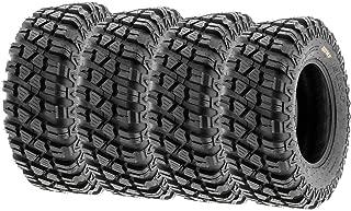 Set of 4 SunF A047 XC MX Hardpack UTV SxS Dual Sport Tires 28x10-14, 6 PR, Tubeless, all terrain off-road