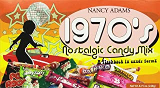 1970's Retro Candy Gift Box-Decade Box Gift Basket - Classic 70's Candy, net Wt. 8.75 oz.(248g)