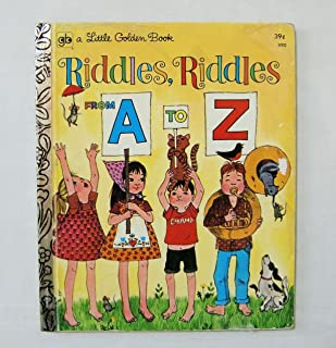 【RIDDLES, RIDDLES FROM A TO Z (なぞなぞのほん)】 リトル・ゴールデン・ブック ヴィンテージ洋書絵本(古本) <1972年4th Printing>